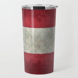 Austrian National Flag - Vintage Version Travel Mug