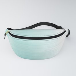 Teal Brushed Metal Stainless Steel Fanny Pack