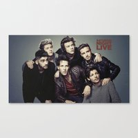 snl Canvas Prints featuring One Direction - SNL w/ Paul Rudd by Amara V