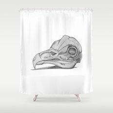 Barn Owl Skull Shower Curtain