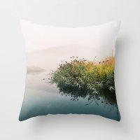 lake Throw Pillows featuring Lake by Bor Cvetko