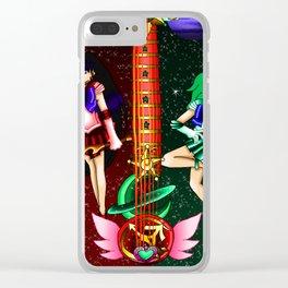 Fusion Sailor Moon Guitar #28 - Sailor Mars & Sailor Neptune Clear iPhone Case