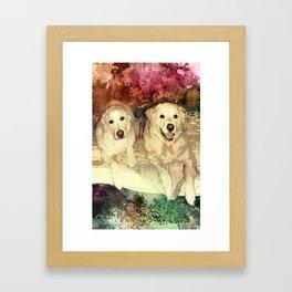 Bryn & Bailey Framed Art Print