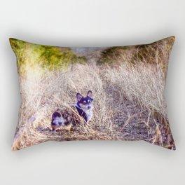 Corgi Crossing Rectangular Pillow