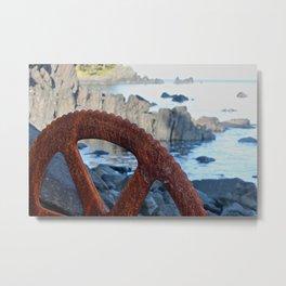 Rusty Wheel Photography Print Metal Print