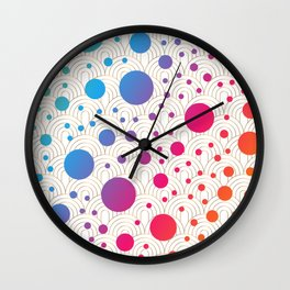 Abstract colorful background with cirlces Wall Clock