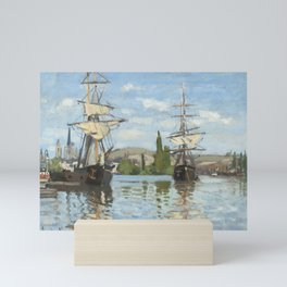 Ships Riding on the Seine at Rouen by Claude Monet Mini Art Print