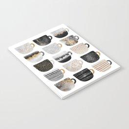 Pretty Coffe Cups 3 - White Notebook