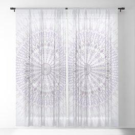 Purple Mandala Sheer Curtain