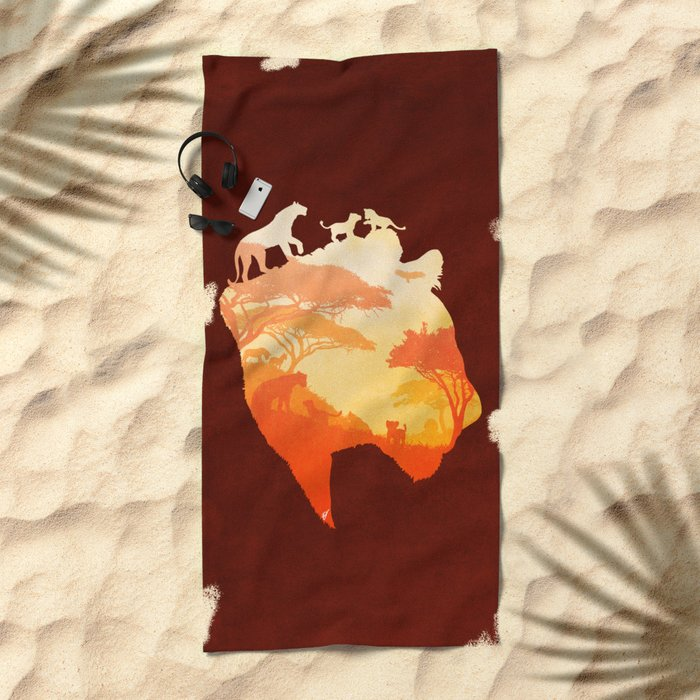 The Heart of a Lioness Beach Towel