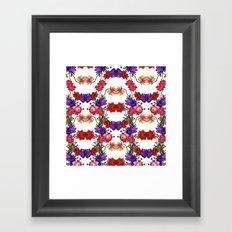 Botanical Floral Pattern M Framed Art Print