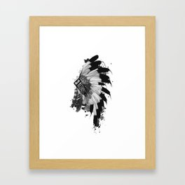 black and white headdress Framed Art Print