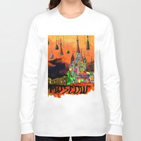 moscow Long Sleeve T-shirts featuring Moscow  by sladja