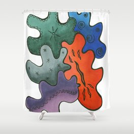 Relaxing Ornamental Spirits. Meditative iFi Art. Stress and Pain Free with MYT3H. Mystic. Origin. Shower Curtain