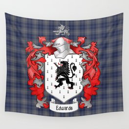 Edwards Crest and Tartan Wall Tapestry