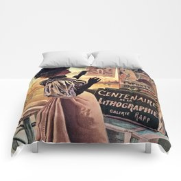 1895 Paris Centennial of Lithography Comforters