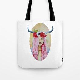 Taurus Watercolor Tote Bag