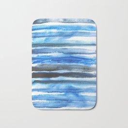 blue brush stroke Bath Mat