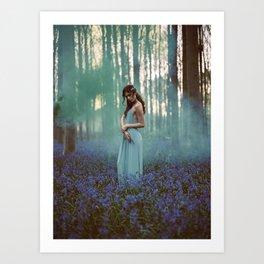 Girl in forest 2 Art Print