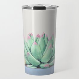 Small Potted Succulent with Crystals Travel Mug