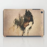 woman iPad Cases featuring Lost In Thought by Davies Babies