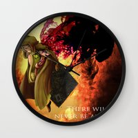 dark souls Wall Clocks featuring Dark Souls 2 Emerald Herald - Shanalotte  Tribute by Axsikio