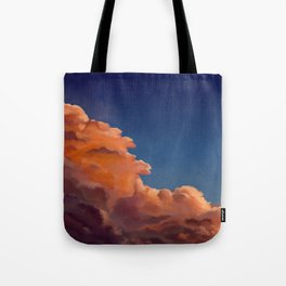 orange clouds under the stars Tote Bag