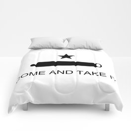 Texas Come and Take it Flag (high quality image) Comforters
