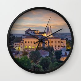 Palacio Nacional de Sintra at dusk, Portugal Wall Clock