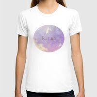 relax T-shirts featuring Relax by Rachel Burbee