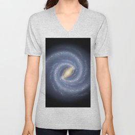R Hurt - Artistic Representation of the Milky Way (2013) Unisex V-Neck