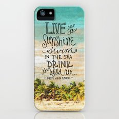 Live In The Sunshine - Photo Inspiration iPhone (5, 5s) Slim Case