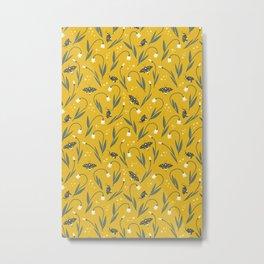 Summer snowflakes and butterflies Metal Print