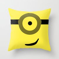 minions Throw Pillows featuring Minions Banana? by ZenthDesigns