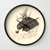 moose Wall Clocks featuring moose by dogooder