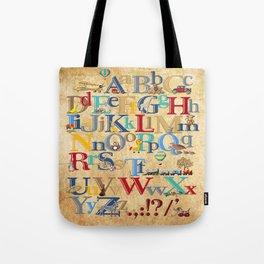 Vintage ABC / nursery wall art Tote Bag