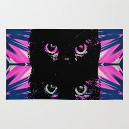 Black Cat Rising Rug
