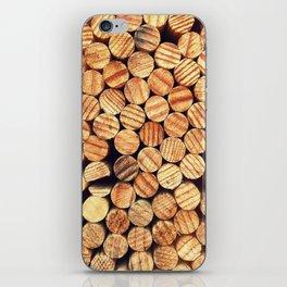 Wooden Circles iPhone Skin