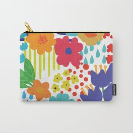 Colorful flowers and Shapes Carry-All Pouch