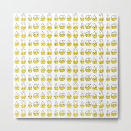 Yellow Shapes Metal Print