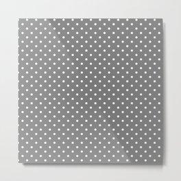 Dots (White/Gray) Metal Print