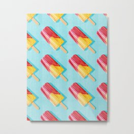 POPSICLE / Cherry, Orange / Pattern Metal Print