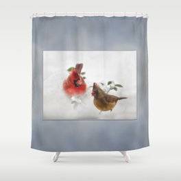 Mr. and Mrs. Cardinal Shower Curtain