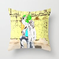 photographer Throw Pillows featuring Photographer by lookiz