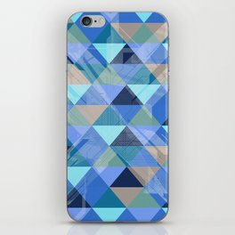 Triangles Blues iPhone Skin
