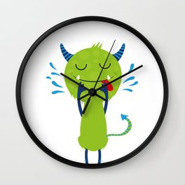 Little monster - wash your face Wall Clock