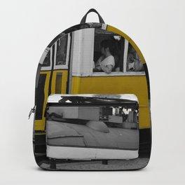 Tram Smoking in Lisbon Backpack