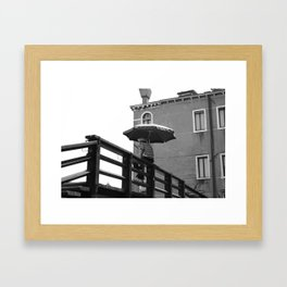 Gondolier in Venice Framed Art Print