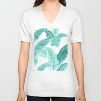 palms V-neck T-shirts featuring Palms by Christine Khoury Illustrations