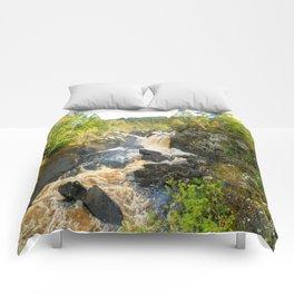 Rogie Falls at Blackwater River, Scotland Comforters